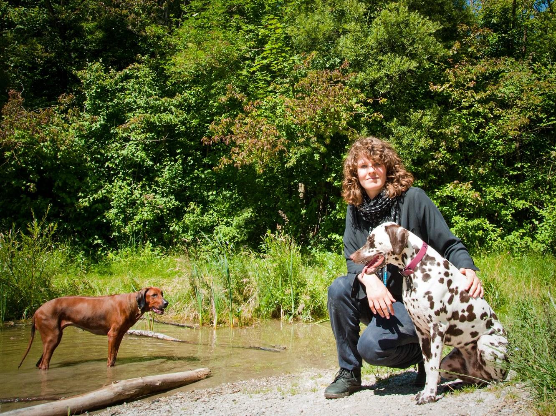 Greta mit Pikey und Raisin